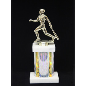 "Sports Figure on Marble Base with 5"" Column"